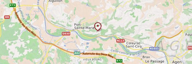 Carte Lot-et-Garonne - Aquitaine - Bordelais, Landes