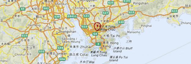 Carte Guangdong - Chine