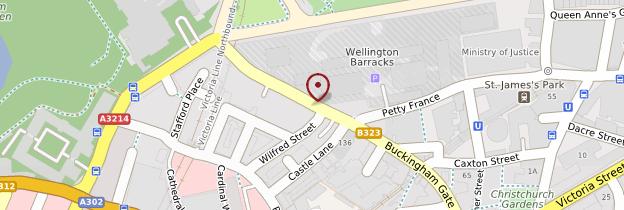Carte Mayfair, Victoria, Pimlico, Westminster et Saint James's Park - Londres