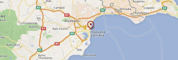 Carte Larnaca - Chypre