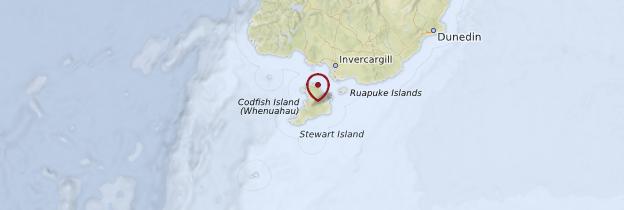 Carte Stewart Island - Nouvelle-Zélande