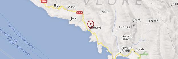 Carte Himarë - Albanie