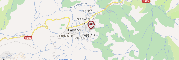 Carte Bocognano - Corse
