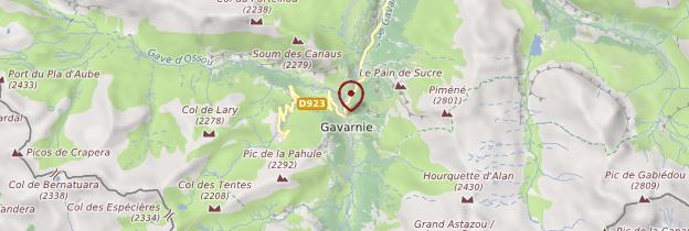 Carte Gavarnie - Midi toulousain - Occitanie