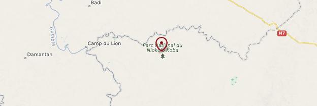 Carte Parc du Niokolo Koba - Sénégal