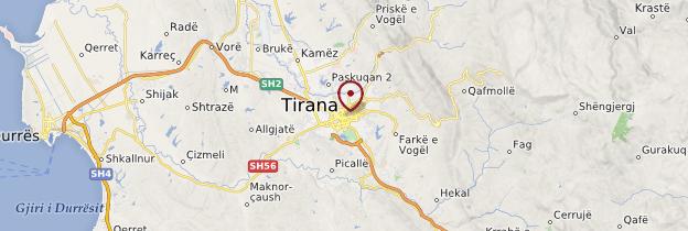 Carte Tirana - Albanie