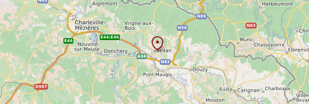 Carte Sedan - Champagne-Ardenne