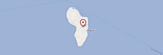 Carte Rurutu - Polynésie française
