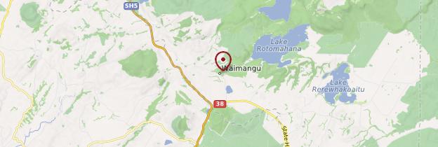 Carte Vallée de Waimangu - Nouvelle-Zélande