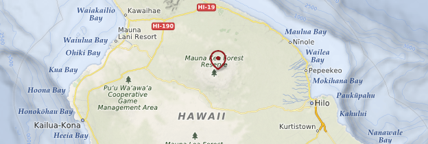 Carte Volcan Mauna Kea - Hawaii