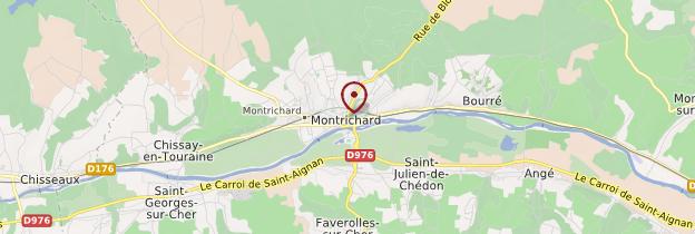 Carte Montrichard - Châteaux de la Loire
