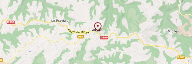 Carte Alban - Midi toulousain - Occitanie