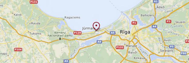 Carte Jūrmala - Lettonie