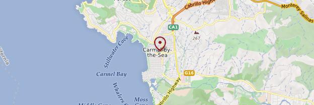 Carte Carmel - Californie