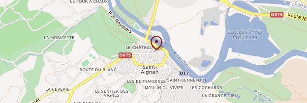 Carte Saint-Aignan - Châteaux de la Loire