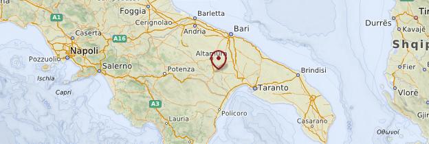 Carte Matera - Italie
