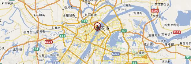 Carte Wuhan - Chine