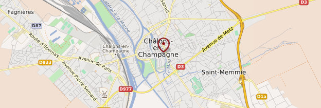 Carte Châlons-en-Champagne - Champagne-Ardenne