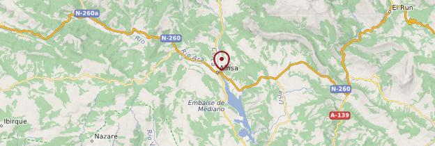Carte Ainsa - Espagne