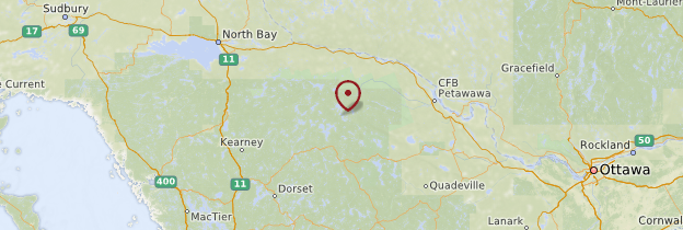 Carte Parc Algonquin - Canada