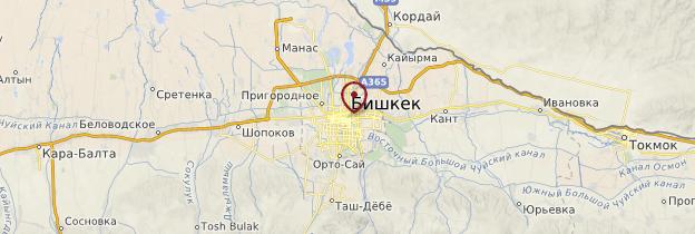 Carte Bichkek - Kirghizistan