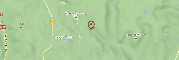 Carte Monts Chic-Chocs - Québec