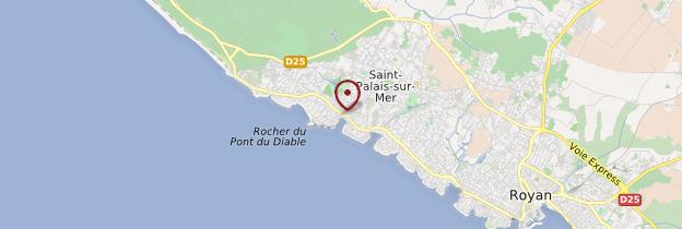 Carte Saint-Palais-sur-Mer - Poitou, Charentes