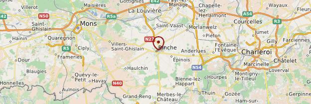 Carte Binche - Belgique