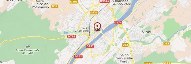 Carte Blois - Châteaux de la Loire