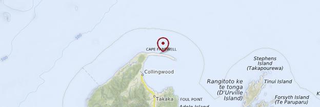 Carte Farewell Spit - Nouvelle-Zélande