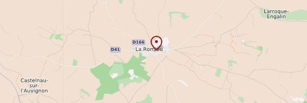 Carte La Romieu - Midi toulousain - Occitanie
