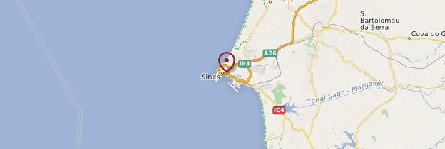 Carte Sines - Portugal