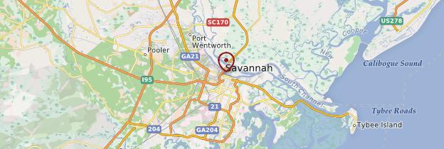 Carte Savannah - États-Unis