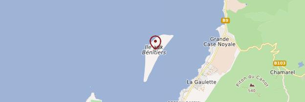 Carte Ile aux Bénitiers - Île Maurice, Rodrigues