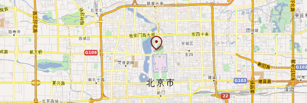 Carte Parc Beihai - Pékin (Beijing)