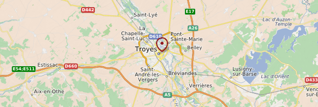 Carte Troyes - Champagne-Ardenne