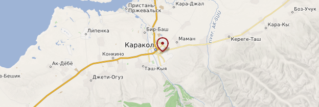 Carte Karakol - Kirghizistan