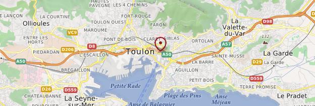Carte Toulon - Côte d'Azur