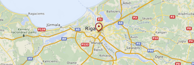 Carte Rīga - Lettonie