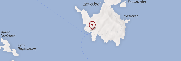 Carte Île de Donoussa - Îles grecques