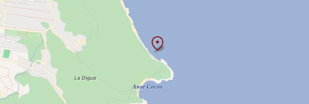Carte Anse Caïman - Seychelles