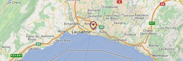 Carte Lausanne - Suisse