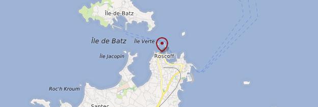 Carte Roscoff (Rosko) - Bretagne