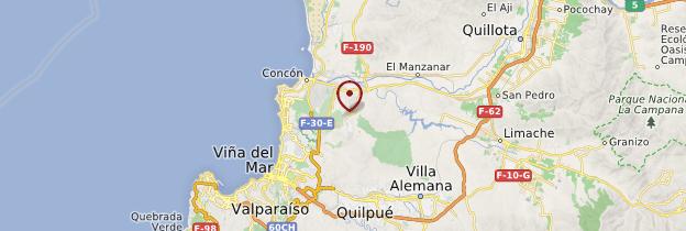 Carte Concón - Chili