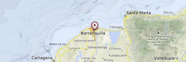 Carte Barranquilla - Colombie