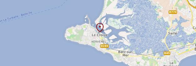 Carte Le Croisic - Pays de la Loire