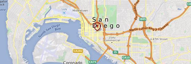 Carte San Diego - Californie
