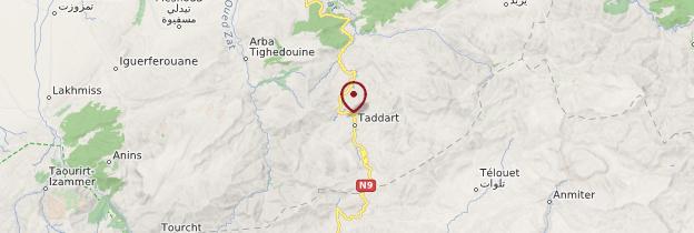 Carte Route du Tizi-N-Tichka - Maroc