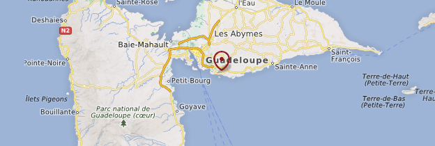 Carte Le Gosier - Guadeloupe