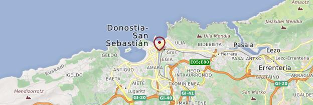 Carte Donostia (San Sebastián) - Espagne